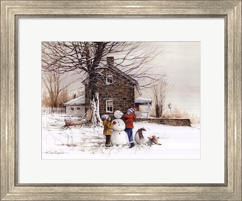 Framed Joy of Snow Print