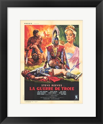 Framed Trojan Horse movie poster Print