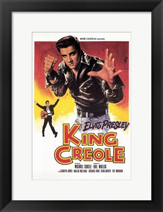 Framed King Creole Leather Jacket Print