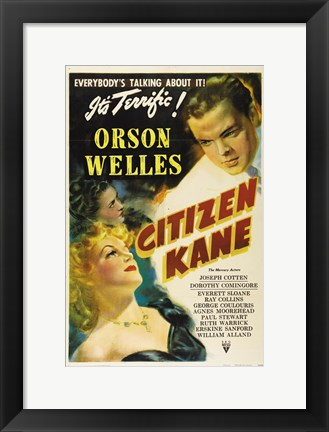 Framed Citizen Kane Everybody's Talking About It Print