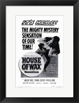 Framed House of Wax Black and White Print