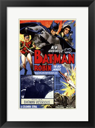 Framed Batman and Robin - Batman Victorious Print