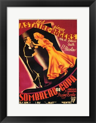 Framed Top Hat - Spanish Print