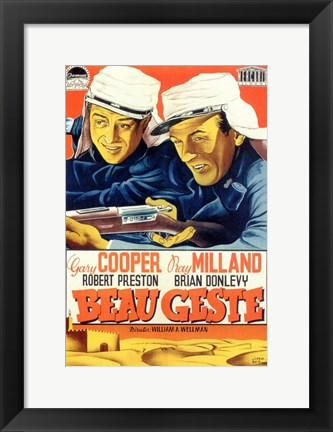Framed Beau Geste Couper And Milland Print