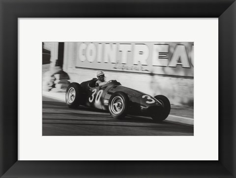 Framed Grand Prix of Monaco, 1956 Print