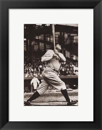 Framed Babe Ruth - The Sultan of Swat Print