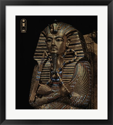 Framed Golden Effigy of King Tutankhamen Print