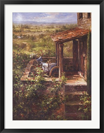 Framed Tuscan Patio Print