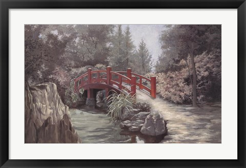 Framed Crimson Bridge Print