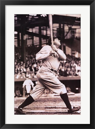 Framed Babe Ruth  The Sultan of Swat Print