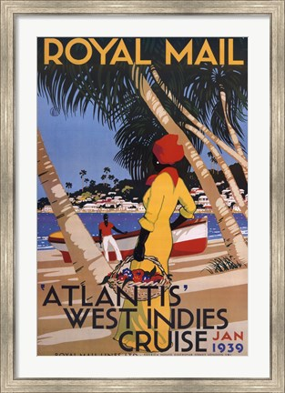Framed West Indies Cruise Print