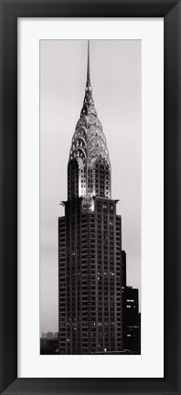Framed Chrysler Building at Sunset Print