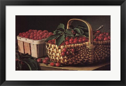 Framed Still Life with Berries Print