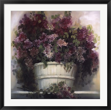 Framed Lilac Gathering Print