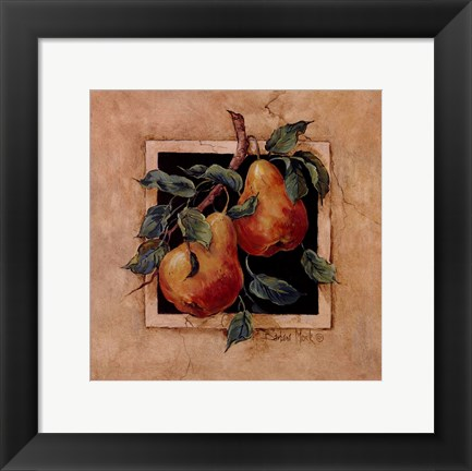 Framed Pear Square Print