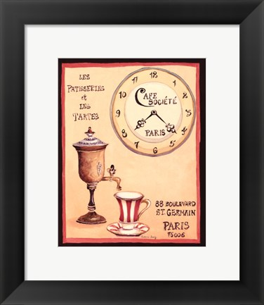 Framed Cafe Societe Print