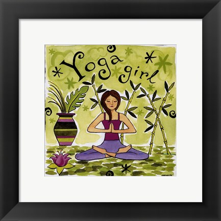 Framed Yoga Girl Print