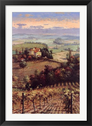 Framed Golden Vineyard II Print