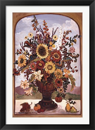 Framed Autumn Vase Print