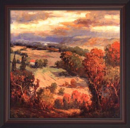 Framed Tuscan View Print