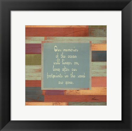 Framed Beaches Quotes I Print