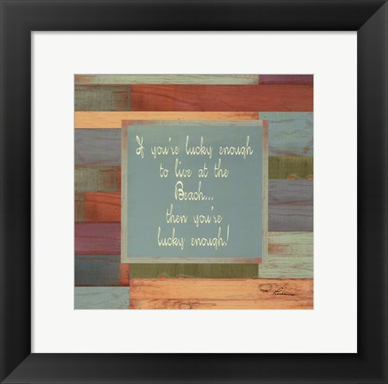 Framed Beaches Quotes IV Print