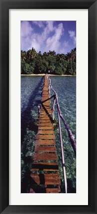 Framed Bridge to Paradise Print