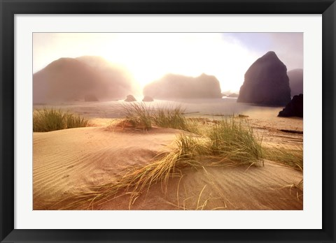 Framed Morning Fog Lifting Print