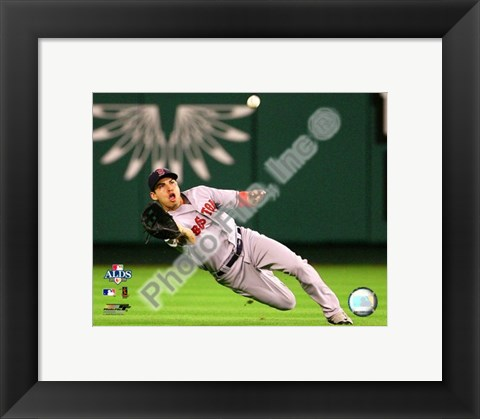 Framed Jacoby Ellsbury 2008 ALDS Game 1 Fielding Action Print