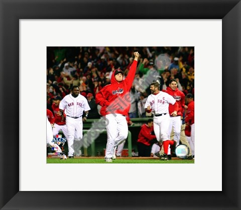 Framed Jonathan Papelbon Game 5 of the 2008 ALCS Print