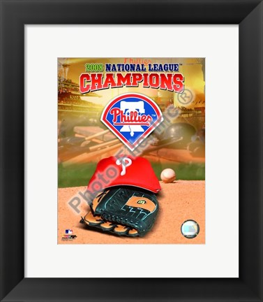 Framed 2008 NLCS Champions Team logo photo Print