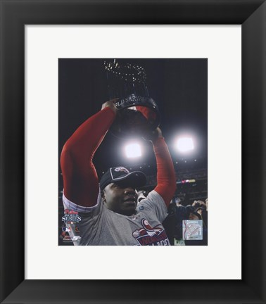 Framed Ryan Howard with 2008 World Series Trophy Print