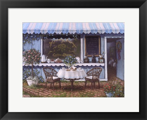 Framed Morning Glory Coffee Shoppe Print
