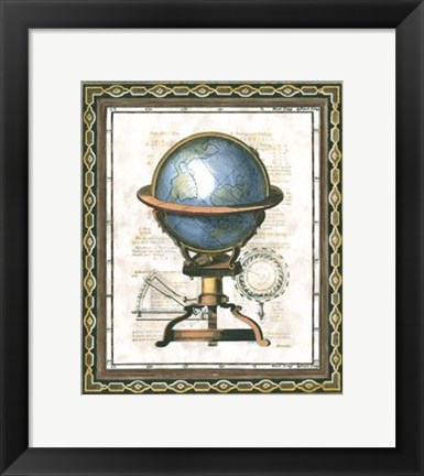 Framed Traditional Globe II Print