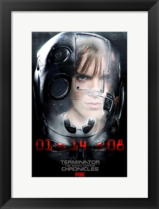 Framed Terminator: The Sarah Connor Chronicles - style U Print