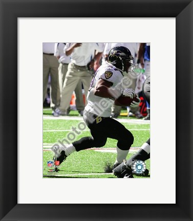 Framed Ray Rice 2008 Action Print