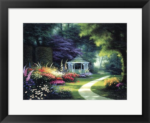 Framed Tree Lined Path Print