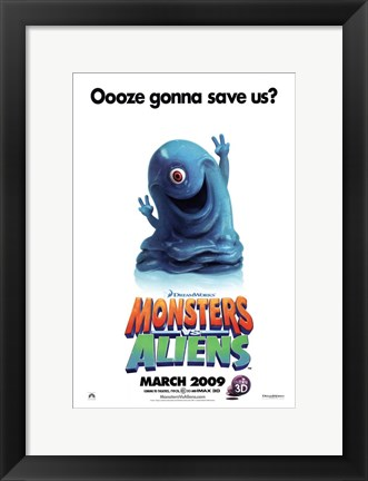 Framed Monsters vs. Aliens, c.2009 - style C Print