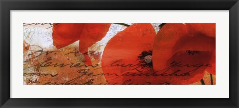 Framed Poppies Composition III Print