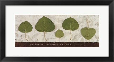 Framed Nature Grows Print