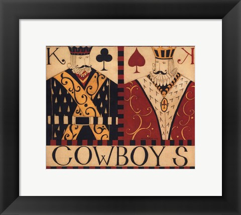 Framed Cowboys Print