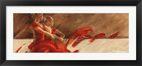 Framed Duo in Red Print