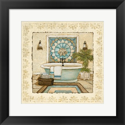 Framed Spa Vacation II Print