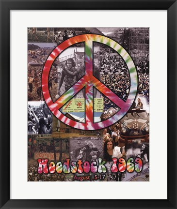 Framed Woodstock Collage Print