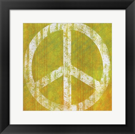 Framed Yellow Peace Print