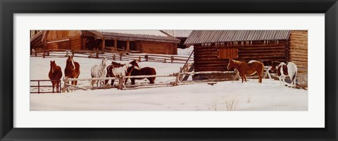 Framed Wyoming Winter Morning Print
