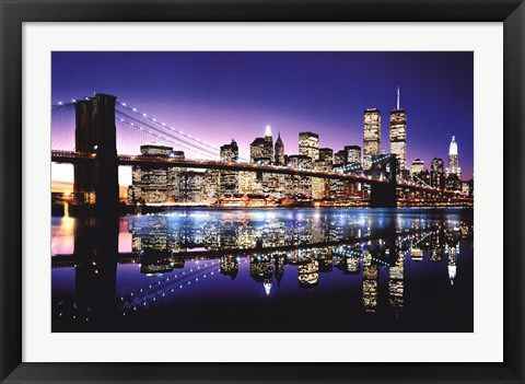 Framed Brooklyn Bridge - Color Print