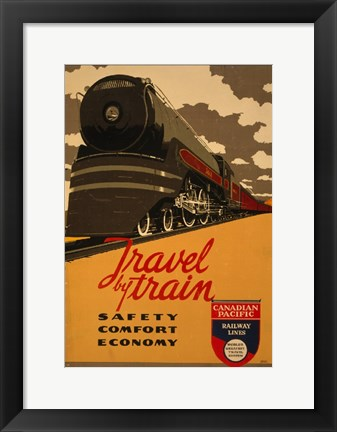 Framed Canadian Pacific - Travel by Train Print