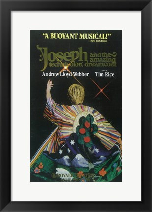 Framed Joseph and the Amazing Technicolor Dreamcoat (Broadway) Print