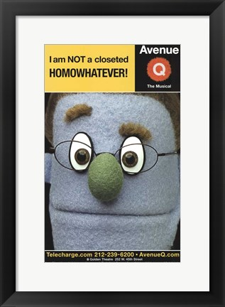 Framed Avenue Q (Broadway) - style D Print